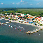 Aerial view of the Marina El Cid hotel. Riviera Maya. Mexico