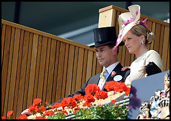 The Earl and Countess of Wessex arrive in the Royal Box for Day 2 of Royal Ascot 2013<br /> Ascot, United Kingdom<br /> Wednesday, 19th June 2013<br /> Picture by Andrew Parsons / i-Images