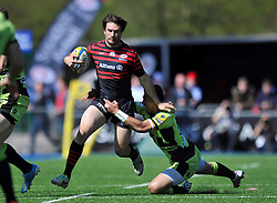 Marcelo Bosch (Saracens) goes on the attack - Photo mandatory by-line: Patrick Khachfe/JMP - Tel: Mobile: 07966 386802 13/04/2014 - SPORT - RUGBY UNION - Allianz Park, London - Saracens v Northampton Saints - Aviva Premiership.