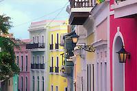 Colorful dwellings of Calle San Sebastián