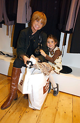 PATSY PALMER and her daughter EMILIA MERKELL at the launch party for the Comptoir des Cotonniers boutique, 235 Westbourne Grove, London W11 on 25th October 2006.<br /><br />NON EXCLUSIVE - WORLD RIGHTS