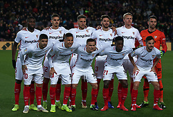 January 30, 2019 - Barcelona, Spain - Sevilla team during the match between FC Barcelona and Sevilla FC, corresponding to the secong leg of the 1/4 final of the spanish cup, played at the Camp Nou Stadium, on 30th January 2019, in Barcelona, Spain. Photo: Joan Valls/Urbanandsport /NurPhoto. (Credit Image: © Joan Valls/NurPhoto via ZUMA Press)
