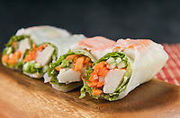 Close up of a Sushi Summer Roll