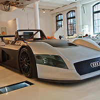Audi R8R LMP Prototype1998. Presented to show Audi's ambition to enter Le Mans 24H in 1999 and since has won 10 times in the last 12 years. Taken at the Prototyp Museum in Hamburg December 2011