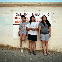 Left to right, Sisters Ayona Hernandez, 13, Aaliya, 16, and Zayda, 14, hold their inhalers on the Moapa reservation in Nevada. All of their family suffers from Asthma and though they can't prove it, believe its because of the coal plant next door. Her grandfather died in march because of cancer. The Sierra Club is working with the Moapa Band of Paiutes to transition NV Energy away from the Reid Gardner coal-fired power plant -- which sits only 45 miles from Las Vegas and a short walk from community housing at the Moapa River Indian Reservation. The Reid Gardner coal plant is literally spewing out tons of airborne pollutants such as mercury, nitrous oxide, sulfur dioxide, and greenhouse gases. This has resulted in substantial health impacts on the Moapa community, with a majority of tribal members reporting a sinus or respiratory ailment. Vernon Lee believes that the many people on the Moapa reservation suffering from health issues are because of the coal plant next door. Sierra Club is working with the Moapa Band of Paiutes to transition NV Energy away from the Reid Gardner coal-fired power plant -- which sits only 45 miles from Las Vegas and a short walk from community housing at the Moapa River Indian Reservation. The Reid Gardner coal plant is literally spewing out tons of airborne pollutants such as mercury, nitrous oxide, sulfur dioxide, and greenhouse gases. This has resulted in substantial health impacts on the Moapa community, with a majority of tribal members reporting a sinus or respiratory ailment.
