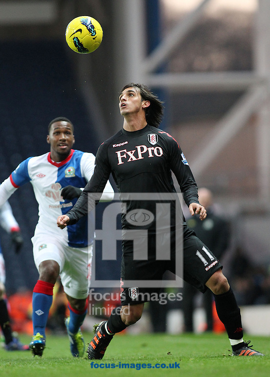 Picture by MIchael Sedgwick/Focus Images Ltd. 07900 363072.14/01/12.Bryan Ruiz of Fulham and David Hoilett of Blackburn in action during the Barclays Premier League match at the Ewood Park stadium, Blackburn, Lancashire.