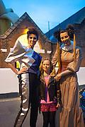 VALERIA NAPOLEONE;  LETIZIA; STEFANIA PRAMMA; ;  Pop party. the birthday celebration of twin sisters Valeria Napoleone and Stefania Pramma. Studio Voltaire, London SW4. 17 May 2013.