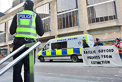 Members of the climate change group Extinction Rebellion protested outside the offices of asset manager Baillie Gifford in Edinburgh. Pic: Terry Murden @edinburghelitemedia