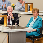 09.05. 2017.                                                 <br /> Limerick City and County Council has awarded the former President of the University of Limerick, Prof. Don Barry a civic reception in recognition of his ten years at the helm of the university and for his leadership in higher education and regional development.<br /> <br /> Pictured at the event were, Prof. Don Barry's parents, Denis and Shella Barry. Picture: Alan Place.