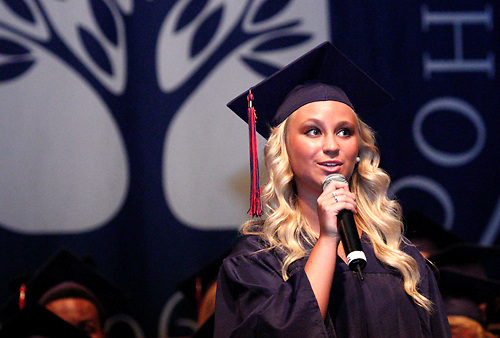 Beatrice Lovett performs during the Miami Valley School 39th annual commencement at the Victoria Theatre in downtown Dayton, June 7, 2012.