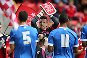 Jamie Langfield on his testimonial during the Pre-Season Friendly match between Aberdeen and Brighton and Hove Albion at Pittodrie Stadium, Aberdeen, Scotland on 26 July 2015.