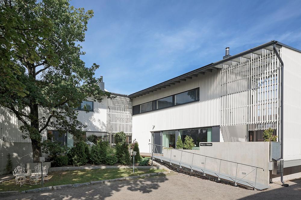 Villa Frida - two family house in Porvoo, Finland designed by Heikkinen-Komonen Architects.