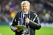 BBC presenter Adrian Chiles pays tribute during the Premier League match between West Bromwich Albion and Southampton at The Hawthorns, West Bromwich, England on 3 February 2018. Picture by Dennis Goodwin.