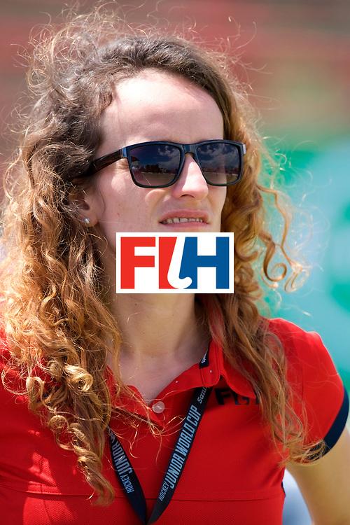 SANTIAGO - 2016 8th Women's Hockey Junior World Cup<br /> USA v ZIM (Pool A)<br /> foto: Tournament Director Magda Nazaret.<br /> FFU PRESS AGENCY COPYRIGHT FRANK UIJLENBROEK