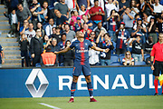 Kylian Mbappe (PSG) scored the second goal and celebrated it during the French championship L1 football match between Paris Saint-Germain (PSG) and SCO Angers, on August 25th, 2018 at Parc des Princes Stadium in Paris, France - Photo Stephane Allaman / ProSportsImages / DPPI