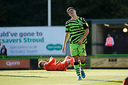 Jack Aitchison of Forest Green Rovers frustrated at the near miss during the EFL Sky Bet League 2 match between Forest Green Rovers and Stevenage at the New Lawn, Forest Green, United Kingdom on 21 September 2019.