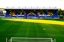 A general view of the One Call Stadium, home to Mansfield Town - Mandatory by-line: Ryan Crockett/JMP - 17/09/2019 - FOOTBALL - One Call Stadium - Mansfield, England - Mansfield Town v Cambridge United - Sky Bet League Two