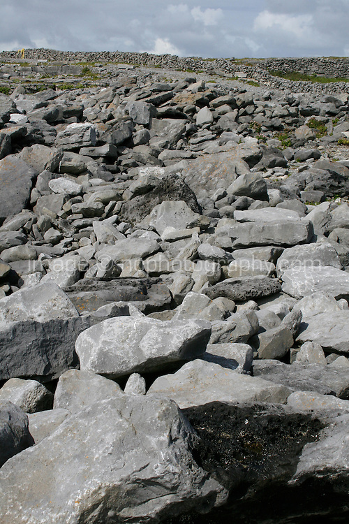 rocky landscape on Inis Oirr Island the Aran Islands County Galway Ireland