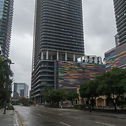 SEPTEMBER 9, 2017--MIAMI--FLORIDA<br /> A photo of deserted streets in Miami's Brickell  neighborhood on Saturday morning.<br /> (Photo by Angel Valentin)