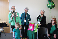 The Comer Children&rsquo;s Hospital Service League&rsquo;s annul Irish Coffee benefit and silent raffle was held this past Saturday at Augustana Lutheran Church located at 5500 S. Woodlawn.<br /> <br /> 1018 &ndash; Director of Child Life at the University of Chicago, Jennie Ott, spoke about how the contribution from the auction will benefit the hospital with her daughter, Abbie, Irish Coffee Committee member, Leslie Kolkmeier, Marlene Tuttle and Dr. Jan O&rsquo;Mlley.
