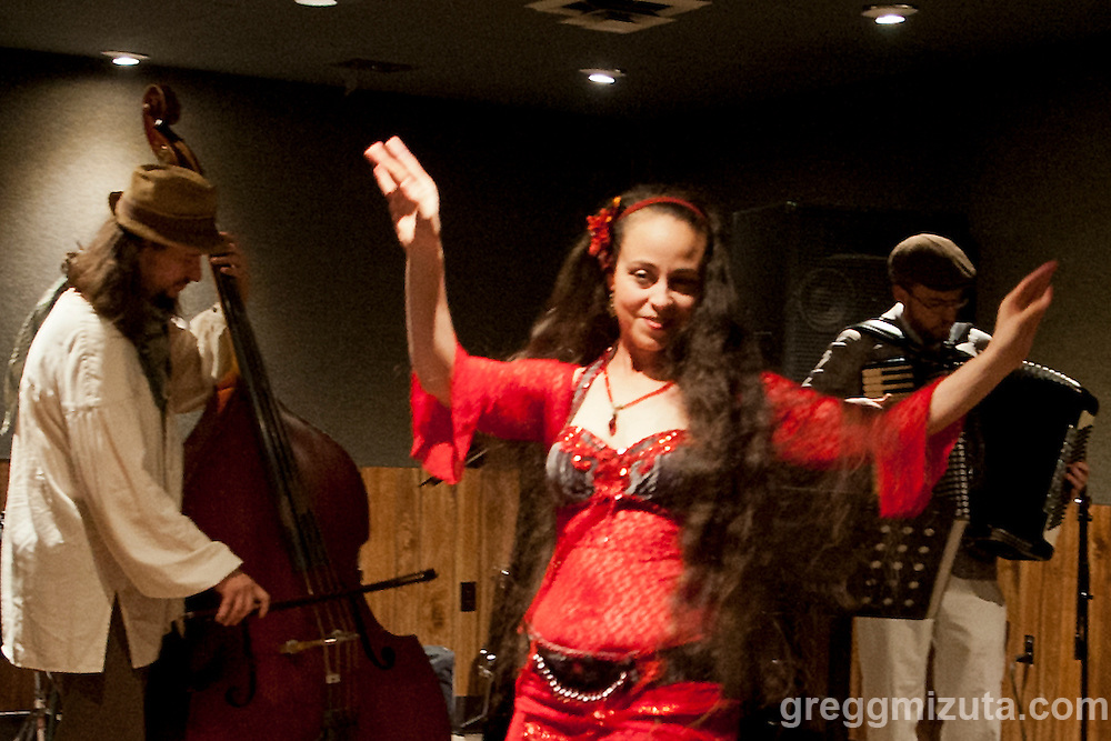 Fleet Street Klezmer Band's Cecilia Rinn performs at the Boise Hive during Wild Love Preserve's Wild Freedom on April 24, 2016 in Boise, Idaho. (Gregg Mizuta/greggmizuta.com)<br /> <br /> Three Gunas, Ryan Curtis, Tag Along Friend, 2x2, Phonetic, Fleet Street Klezmer Band, Bijouxx, a.k.a. Belle, Idyltime, Brett Netson, Tracy Morrison, Julia &amp; the Jumpscares.