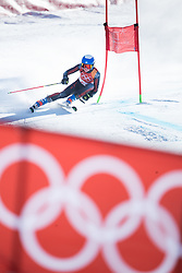 February 15, 2018 - Pyeongchang, South Korea - LEIDE GASUNA of Latvia on her first run at the Womens Giant Slalom event Thursday, February 15, 2018 at the Yongpyang Alpine Centerl at the Pyeongchang Winter Olympic Games.  Photo by Mark Reis, ZUMA Press/The Gazette (Credit Image: © Mark Reis via ZUMA Wire)