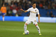 Pablo Hernandez of Leeds Utd in action. EFL Skybet championship match, Cardiff city v Leeds Utd at the Cardiff city stadium in Cardiff, South Wales on Tuesday 26th September 2017.<br /> pic by Andrew Orchard, Andrew Orchard sports photography.