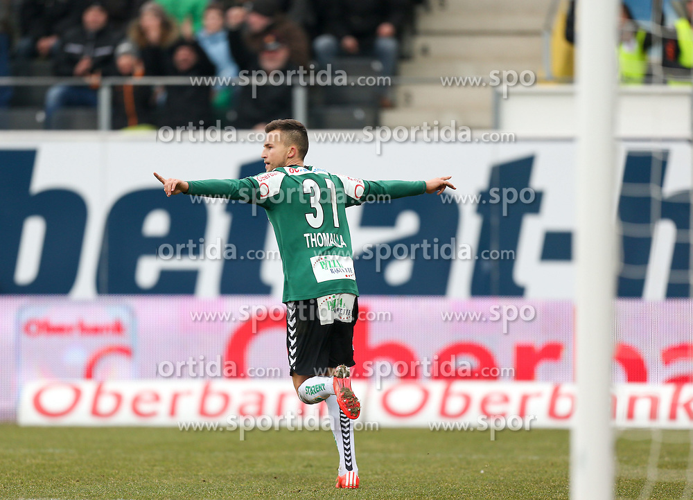 22.02.2015, Keine Sorgen Arena, Ried, AUT, 1. FBL, SV Josko Ried vs FC Red Bull Salzburg, 21. Runde, im Bild Denis Thomalla (SV Ried) // during Austrian Football Bundesliga Match, 21st round, between FC Red Bull Salzburg and SK Rapid Wien at the Keine Sorgen Arena in Ried, Austria on 2015/02/22. EXPA Pictures © 2015, PhotoCredit: EXPA/ Roland Hackl