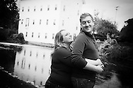 Kristin and Tony's fabulous engagement photos in the quaint town of Linden, Michigan.