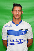 Yoann Touzghar of Auxerre during Auxerre squad photo call for the 2016-2017 Ligue 2 season on September, 7 2016 in Auxerre, France ( Photo by Andre Ferreira / Icon Sport )