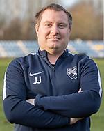 FODBOLD: Assistenttræner Jesper Jensen ved Ølstykke FC's officielle fotosession den 26. marts 2019 på Ølstykke Stadion. Foto: Claus Birch