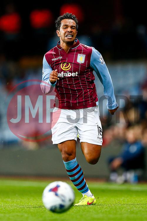 Kieran Richardson of Aston Villa in action - Photo mandatory by-line: Rogan Thomson/JMP - 07966 386802 - 27/08/2014 - SPORT - FOOTBALL - Villa Park, Birmingham - Aston Villa v Leyton Orient - Capital One Cup Round 2.