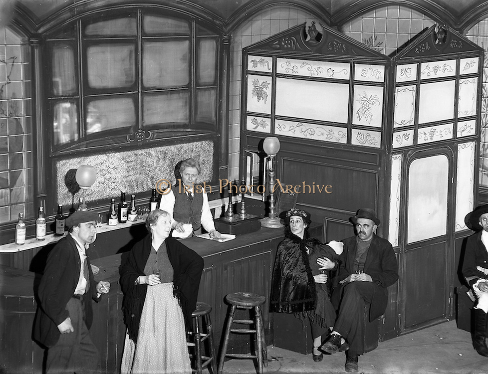 "22/04/1955<br /> 04/22/1955<br /> 22 April 1955<br /> Special for Abbey Theatre - Scenes from 'The Plough and the Stars' by Sean O'Casey. The Plough and the Stars is a play by the Irish writer Seán O'Casey first performed on February 8, 1926 by the Abbey Theatre in the writer's native Dublin..It is the third of his well known ""Dublin Trilogy"" - the other two being The Shadow of a Gunman (1923) and Juno and the Paycock (1924)."