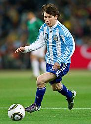 27-06-2010 VOETBAL: FIFA WORLDCUP 2010 ARGENTINIE - MEXICO: JOHANNESBURG <br /> Lionel Messi of Argentina<br /> ©2010-FRH- NPH/ MVid Ponikvar (Netherlands only)