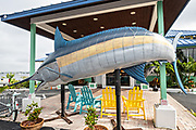 Giant marlin decorates the Mulligan's Beach House Bar & Grill in the historic downtown in Stuart, Florida. The tiny hamlet was founded in 1870 and was voted the Happiest Seaside Town in America by Coastal Living.