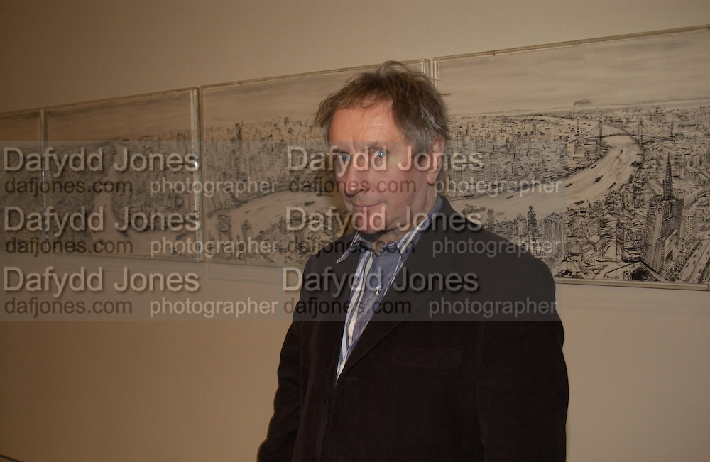 Chris Orr in front of ' View from  Jinmao Tower'. Royal Academicians in China: 2003-2005. Royal academy. 11  January 2006. ONE TIME USE ONLY - DO NOT ARCHIVE  © Copyright Photograph by Dafydd Jones 66 Stockwell Park Rd. London SW9 0DA Tel 020 7733 0108 www.dafjones.com