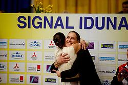 BOE Kristina (GER), Don de la Mar<br /> Dortmund - Signal Iduna Cup 2018<br /> FEI World Cup Vaulting Finale Female<br /> Voltigieren Finale Frauen 2.Umlauf<br /> www.sportfotos-lafrentz.de/Stefan Lafrentz<br /> Datum 24.03.18