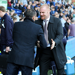 Everton Manager, Roberto Martinez shakes hands with Burnley Manager, Sean Dyche  - Photo mandatory by-line: Matt McNulty/JMP - Mobile: 07966 386802 - 18/04/2015 - SPORT - Football - Liverpool - Goodison Park - Everton v Burnley - Barclays Premier League