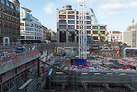 Crossrail project in London. Spanish enterprise Ferrovial is part of a consortium which builds the Farringdon section. The Crossrail will open in 2018.