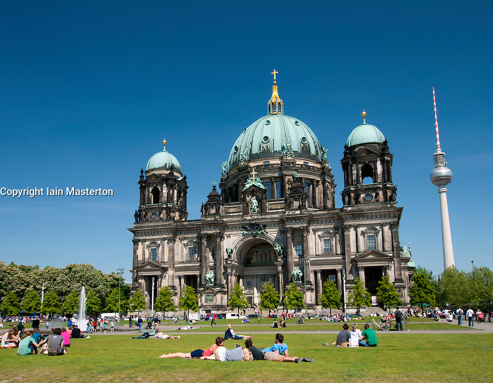 The Cathedral or Dom on Museum Island in Mitte Berlin