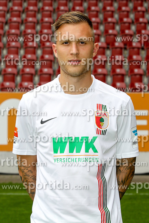 08.07.2015, WWK Arena, Augsburg, GER, 1. FBL, FC Augsburg, Fototermin, im Bild Tim Rieder #40 (FC Augsburg) // during the official Team and Portrait Photoshoot of German Bundesliga Club FC Augsburg at the WWK Arena in Augsburg, Germany on 2015/07/08. EXPA Pictures &copy; 2015, PhotoCredit: EXPA/ Eibner-Pressefoto/ Kolbert<br /> <br /> *****ATTENTION - OUT of GER*****