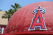 ANAHEIM, CA - JUNE 5:  A metal baseball cap sports the team logo before the Los Angeles Angels of Anaheim game against the Chicago Cubs on Wednesday, June 5, 2013 at Angel Stadium in Anaheim, California. The Cubs won the game 8-6 in ten innings. (Photo by Paul Spinelli/MLB Photos via Getty Images)
