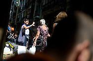 Local women talk in a street of the Northern Spanish Basque city of Bilbao, on August 25, 2011. Photo Rafa Rivas