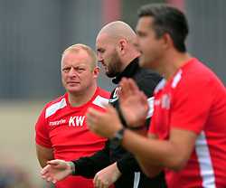 KEVIN WARD COACH CORBY TOWN, Corby Town v Romulus Steel Park, Corby Evo-Stik Northern Premier Division One South Saturday 12th August 2017