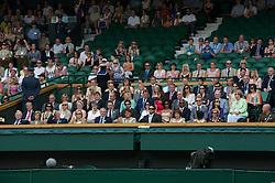 LONDON, ENGLAND - Saturday, June 26, 2010: The Royal Box on Centre Court on day six of the Wimbledon Lawn Tennis Championships at the All England Lawn Tennis and Croquet Club. Featuring Julia Mancuso, Chemmy Alcott, Bobby Charlton, Ashley Cooper, Evonne Goolagong-Cawley, Glenn Hoddle, Chis Hoy, Brian Lara, Jason Leonard, Ilie Nastase, Martina Navratilova, Victoria Pendleton, Sachin Tendulkar. (Pic by David Rawcliffe/Propaganda)