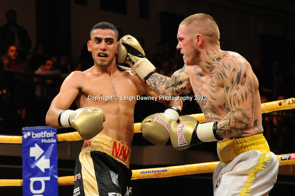 Terry Carruthers defeats Navid Mansouri in Semi Final Two, Prizefighter at York Hall, Bethnal Green, London on the 1st November 2012. Frank Warren Promotions. © Leigh Dawney Photography 2012.