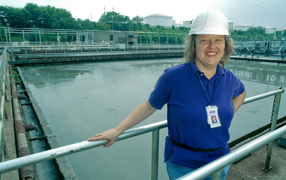 Sarah Lynn Cunningham photographed July 28, 2000 at the MSD Plant in Louisville, Ky. for a LEO story.(Photo by Brian Bohannon)