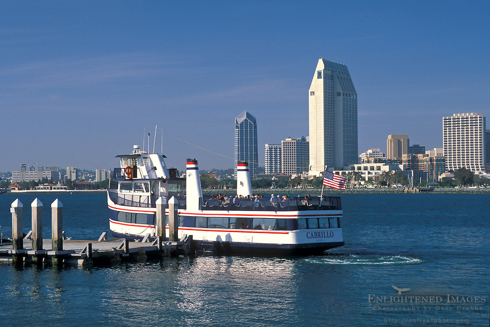 San Diego Skyline from Ferry Landing,+Coronado Island, San Diego, CALIFORNIA