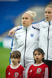 CARDIFF, WALES - Tuesday, August 21, 2014: England's captain Steph Houghton lines-up before the FIFA Women's World Cup Canada 2015 Qualifying Group 6 match against Wales at the Cardiff City Stadium. (Pic by Ian Cook/Propaganda)