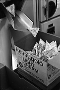 08/06/1967<br /> 06/08/1967<br /> 08 June 1967<br /> Killeshandra Co-Operative Creamery Ltd., Co. Cavan,  producing Kerrygold Jigger Cream packs. Image shows a Tetra Pak machine used to package the cream.